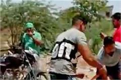 muktsar woman beaten by congress goons