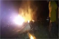 a powerful explosion in the cracker factory in pilkhua death of one