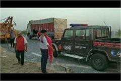 road accident in agra painful death on the occasion of 5 including innocent