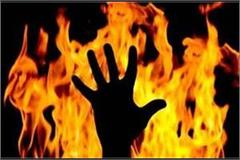 ghazipur death due to burning suspect in mother daughter