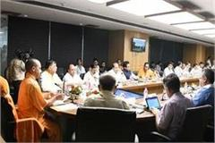 yogi reviewed development works in noida greater noida
