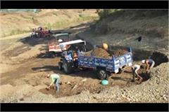 illegal mining and overloading of police stations of tear out sarsawa behat