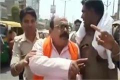 hindu mahasangh president beaten