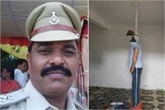 sho hangs in jhabua suicide kills police blasts