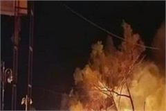 fire broke out in market opposite of shri keshgarh sahib