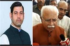 cm khattar told vikas was bad character allegation imposed on congress