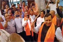 cabinet minister virendra kanwar in peplu fair
