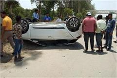 one labor died in road accident car overturned after hit