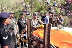 himachal martyr jawan funeral