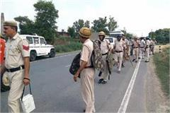 farmers have warned about movement to stop train heavy police force deployed