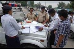 in janpur 19 choppy invoices including four policemen on not wearing helmet