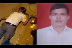 bjp leader shot dead near the police post