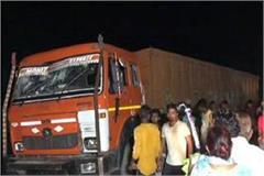 panic accident in karnal one died one injured
