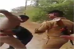 two policemen brutally beaten the young man after colliding with each other