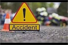 car collision with standing truck 2 youths painful death