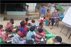 after completing duty teaches children living in slums women constable