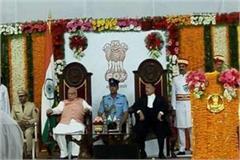mp governor lalji tandon oath leaders of madhya pradesh bihar and up raj bhavan