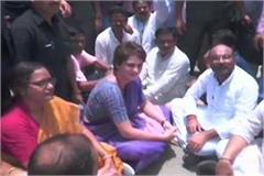 congress delegation visits sonbhadra victims soon to meet priyanka gandhi