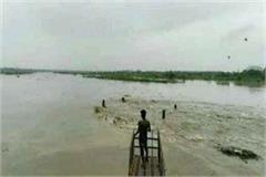 rainfall of river gandak through rain