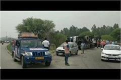 tanker filled with lpg reflex on delhi amritsar national highway