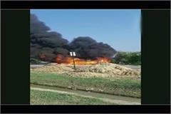 seven scorching fire in tanker fire in barabanki