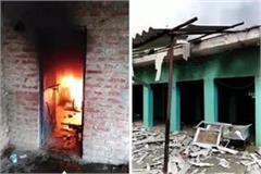 fatehpur chaos on cow killing locals put fire in madarsa