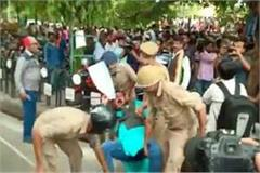 lathi charges on congressmen seeking justice in unnao accident case