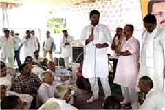 dushyant chautala support to dharan on the demand of bypass