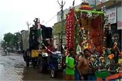 the arrival of the kanvadis in the month of savan but the facilitie