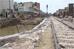 big train accident eluded in rohtak railway track soil slipped