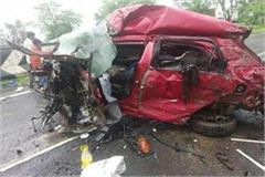 on the indore bhopal state highway a fierce road accident