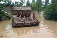 55 villages surrounded by floods in balrampur