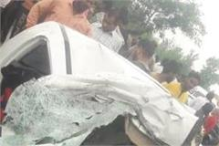 painful incidents in pilibhit 6 people killed in bus and car collision