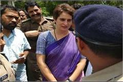 priyanka gandhi going to sonbhadra was detained by the administration