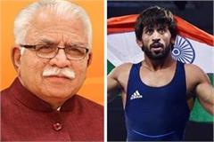 cm manohar gave a reply on the tweet of wrestler bajrang poonia
