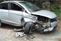 swarghat road accident 4 wounded