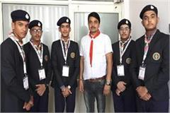 selection of five boys of haryana for world scout junky compression