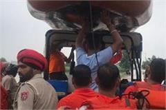 on sutlej boom rescue team saves 4 people