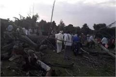 5 killed 15 injured after felling of peepal tree at kajalia fair