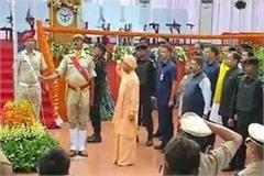 cm yogi flagged off at vidhan bhavan said historic step to remove article 370