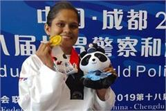 aarti khakal wins gold medal in international police sports