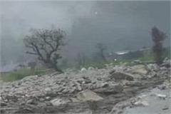 cloudburst in tirthan valley of kullu