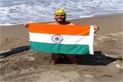 para swimmer satyendra also crossed the catalina channel