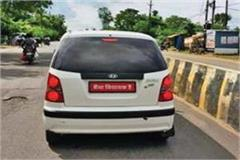 without number plate car in damoh