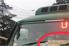 hrtc bus running on number of haryana on shimla jhakri route