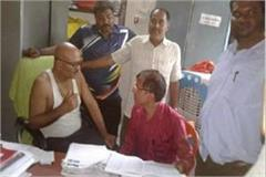 major action lokayukta district clerk caught red handed taking bribe