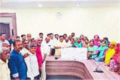 pm 38 lakhs released to 42 beneficiaries of housing scheme