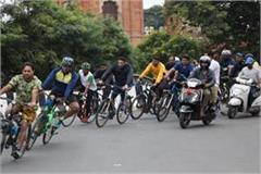 cycle rally organized in indore