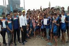 the players of bahadurgarh in the national games have shown the victory