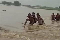 patwari reached for survey after sitting on villager s back